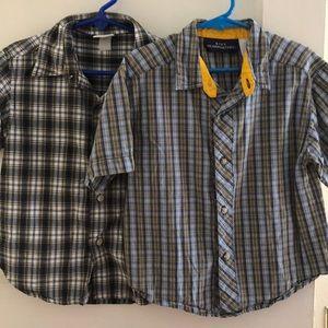 Bundle of little boys plaid shirts.